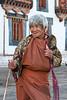 #Bhu 016 Woman, Kurjey Lhakhang, Bumthang, Bhutan