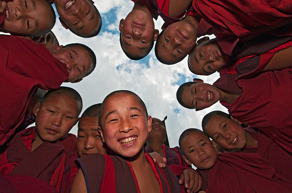 #Bhu 163 Young Monks, Paro Dzong, Bhutan