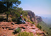 013 Tom, big bend, TX, south rim trail, chisos mts , apr 19, 1997b-1