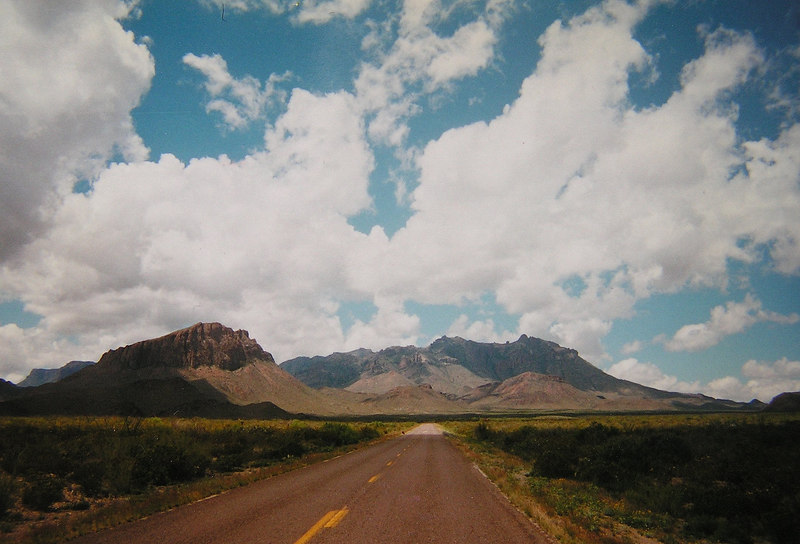 001 approaching Big Bend, TX,  Marathon Hwy, looking south,apr 18, 1997-1