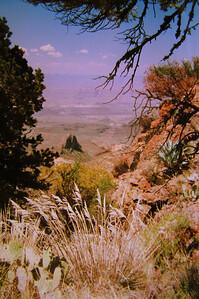 014 big bend, TX, south rim trail, chisos mts , apr 19, 1997c-1