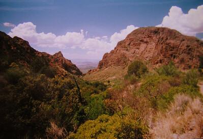 017 big bend, TX,  Laguna Meadow trail, chisos mts , apr 19, 1997f-1