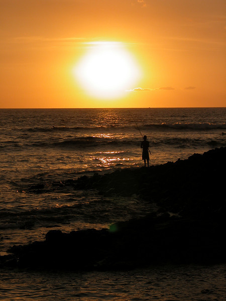 Sunset Fishing, Kona