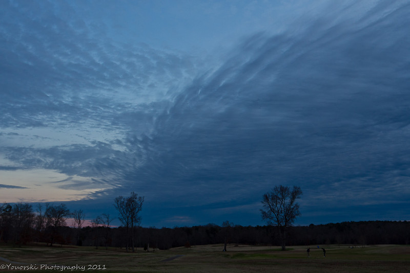 Interesting clouds over the golf course