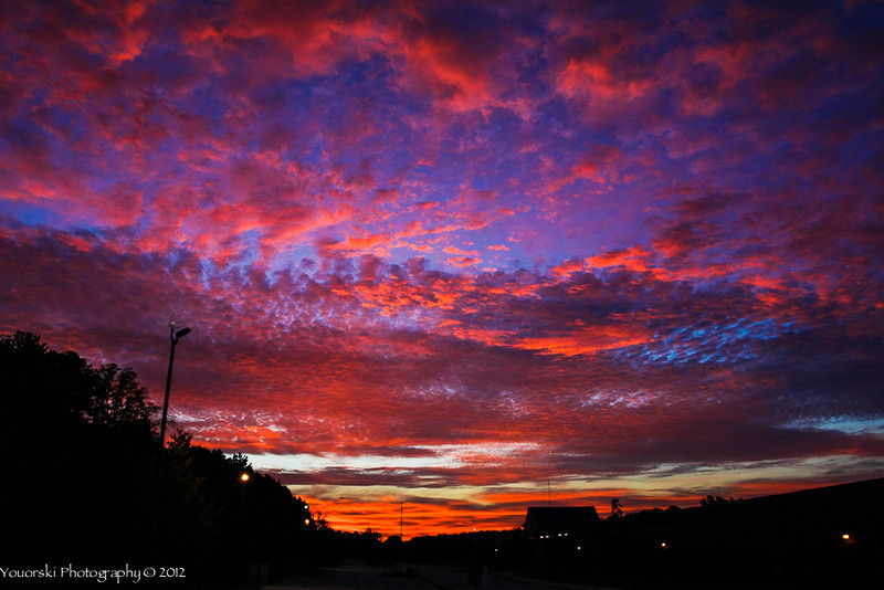 Before sunrise w/one exposure. Stunning sky. I did not feel alone as I sat there by myself taking pics.