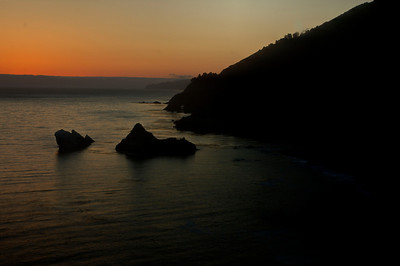 Sunset at McWay Falls Overlook
