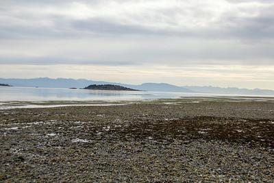 Maude island and the Coastal Mountains near Gibson's