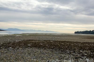 Nanoose Bay beach at low tide