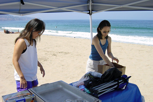 ...so she helps Valerie set up