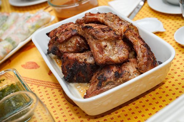 Sườn Nướng Xả (Vietnamese-style grilled pork ribs with lemongrass)