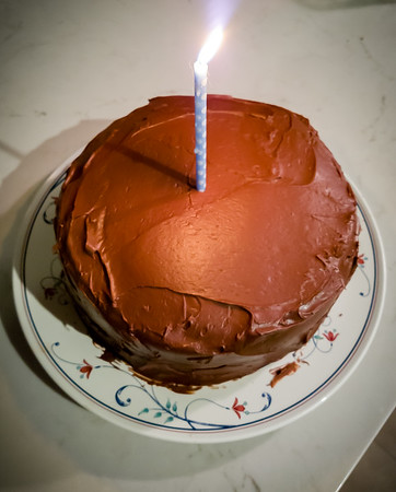 It wouldn't be a birthday without a chocolate cake from mom