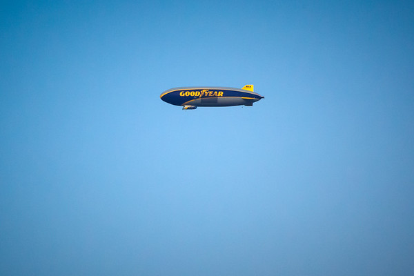 Pete edumacated me...the Goodyear Blimp is no longer a blimp.  It is a semi-rigid airship.