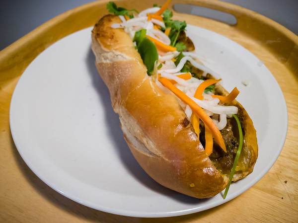Lunch today is the Banh Mi Thit Nuong we picked up yesterday from Top Baguette.  Last night we had Bun Bo Hue from Ngu Binh Restaurant.