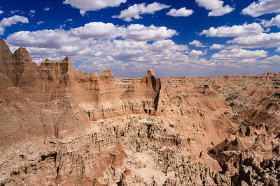 "The view from the ""Doors and Windows"" overlook in Badlands National Park"