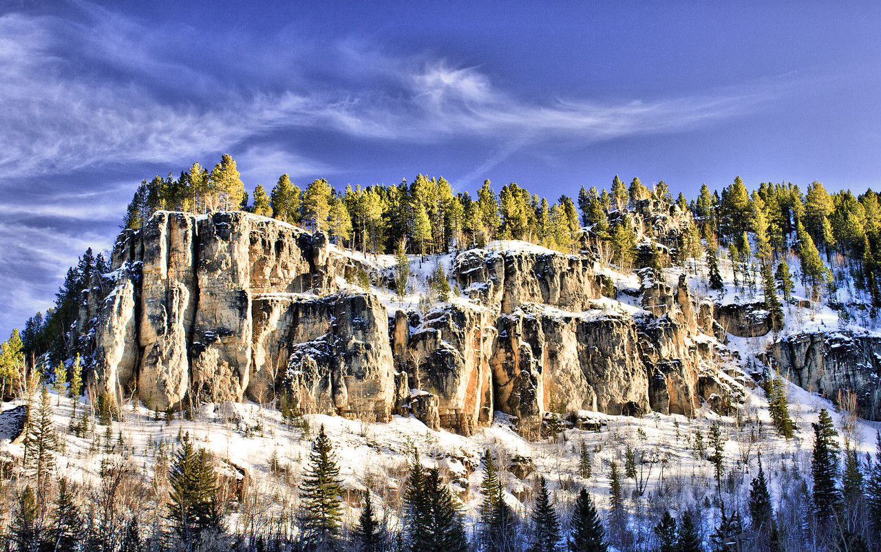 Winter in Spearfish Canyon