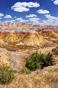 Yellow Mounds in Badlands National Park, SD