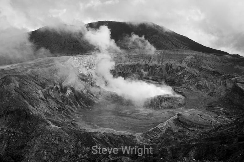 Poas Volcano - Costa Rica (2) DB&W