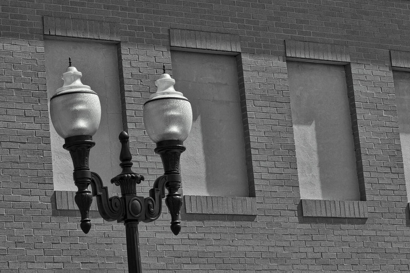 Lamppost Against Brick Wall, Kentlands, Gaithersburg, Maryland