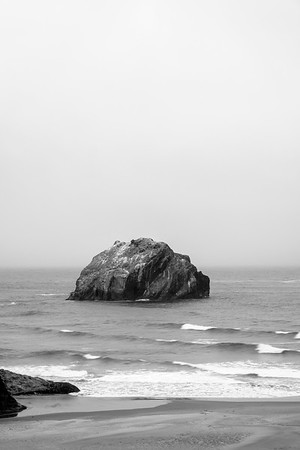 Face Rock - Black and White