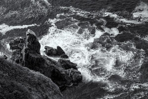 Ocean near Devil's Cauldron-Black & White
