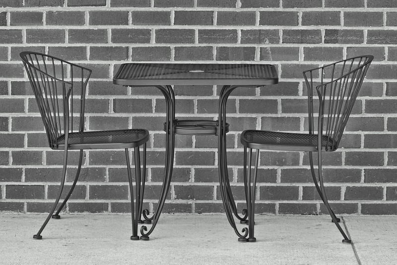 Pair of Chairs and Table, Kentlands, Gaithersburg, Maryland