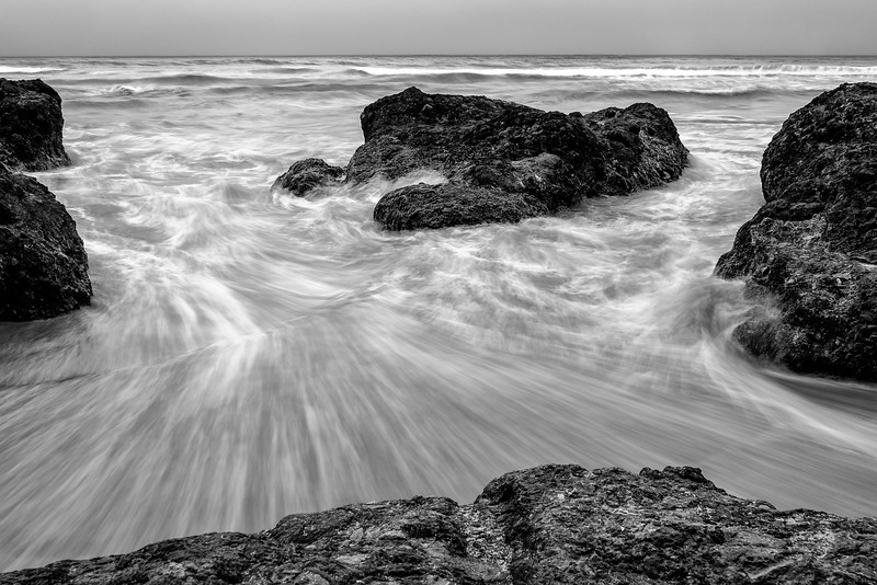 Neptune Beach Black and White