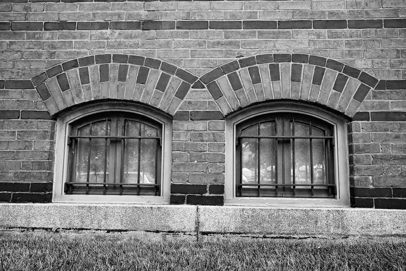 Pair of Basement Windows, Smithsonian in Washington, DC
