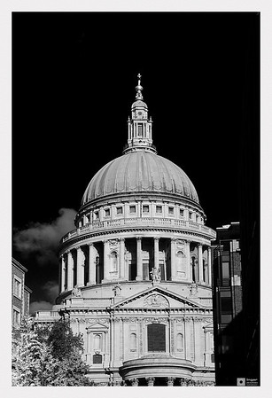 The dome of St. Paul's Cathedral.