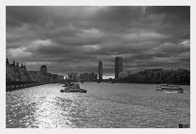 View up the River Thames.