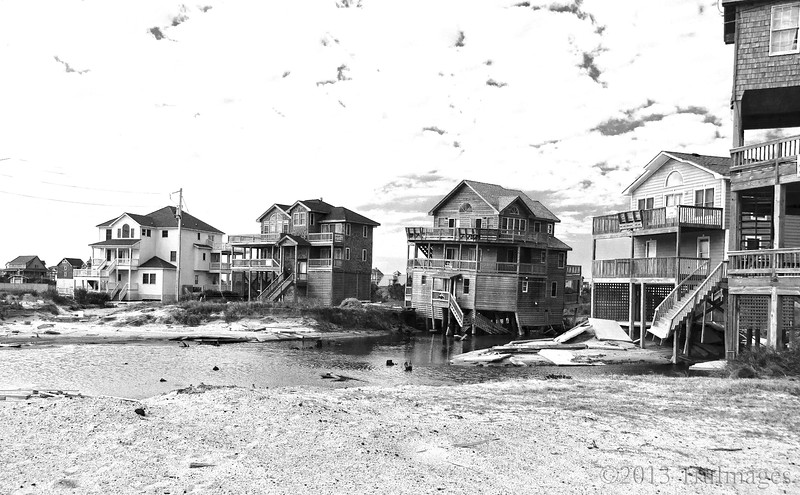 Mar 22<br /> Condemned<br /> <br /> Still busy with work so another from the archives. This is Rodanthe NC, 6 months after Hurricane Irene caused massive destruction to the NC outer banks. All of these beautiful homes have been abandoned and condemned.<br /> <br /> Thanks for viewing!!! Have a great Friday everyone!