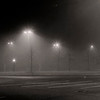 Jan 14<br /> The fog<br /> <br /> This parking lot seemed a bit eerie blanketed in dense fog.<br /> <br /> Much appreciation for all of the comments!