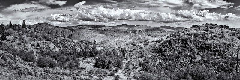 Three image panorama captured from Windy Hill Rd above the town of Omak in north central Washington.