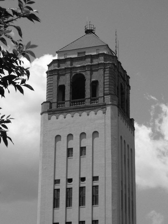 The bell tower at Unity Village.