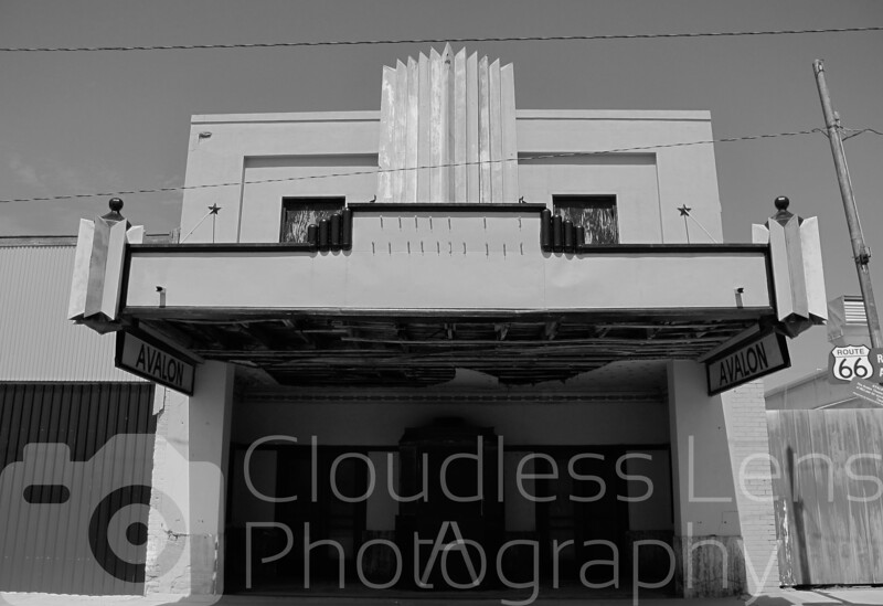 The old Avalon Theatre in McLean TX