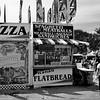Pizza at the Orange Countty Fair in Costa Mesa California black and white