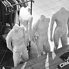 Male Mannequins in Department Store in South Coast Plaza in Costa Mesa CA black and white