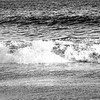 Sand, Water, Sky at the Wedge in Costa Mesa California, black and white
