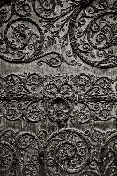 Notre Dame Cathedral Door, Paris France.