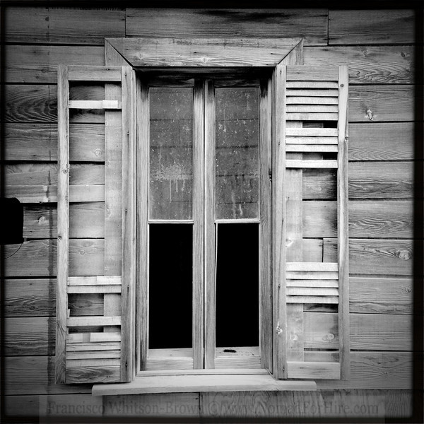 Weathered by the years. How many faces have looked through this window?