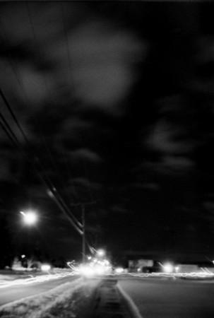 Black and White Wall Twelve (Night)