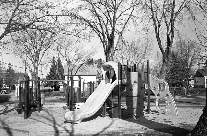 This photo was taken with a Polaroid 800 Land Camera using Arista EDU 100 4x5 inch sheet film, tray developed in Rodinal 1:50 for 7 minutes at 20C.<br /> <br /> First time I tried using this near mint camera that I bought a decade ago at a garage sale. Since I can no longer get the proper Polaroid film for it, I figured I would try loading it with sheet film to see if it would work and quite frankly: I'm impressed.<br /> <br /> Other then doing some spotting in PS, all I have done to this image was resize and a touch of sharpening after resizing - I was impressed with the resulting image.<br /> <br /> To load this camera with the sheet film I have to open it, load it, close it - all in total darkness. Same with unloading it after I take the photo - open the camera, remove the film - develop it in trays: all in total darkness.
