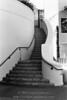 Curving staircase, Palo Alto