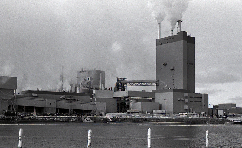A photo of the local mill on a cloudy day. Maybe a boring image but this particular roll of film I was just trying to get photos of anything to get some exposures to try my hand at developing my own film.<br /> <br /> Leica M5 with Kodak Tmax 400 developed with Kodak D76 for 8 minutes at 21C.