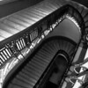 10/06:  Looking down a stairwell at the State Capitol Building, St. Paul, MN.  The Black & White was created using Photoshop Elements 9 Photomerge/Style Match feature.