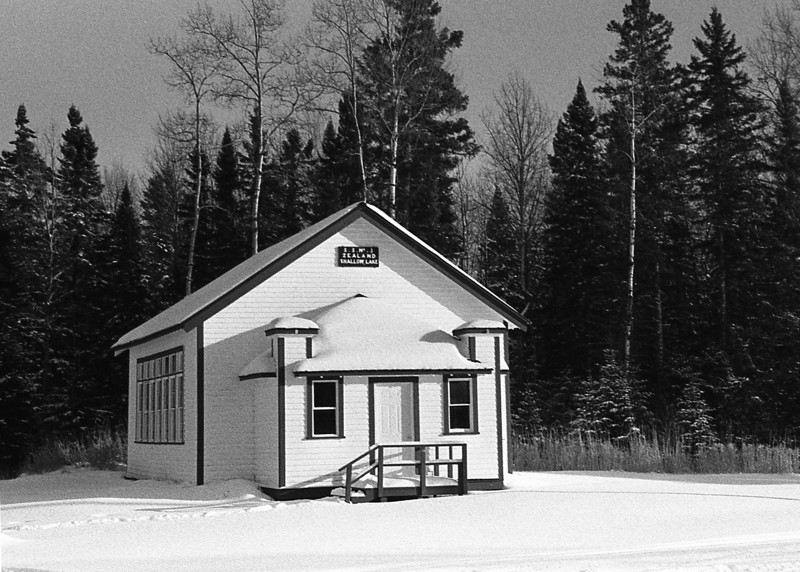 Shallow Lake School.<br /> <br /> Photo taken with a Minolta Maxxum 7 film camera loaded with ORWO NP 74 plus. The film was developed in Rodinal 1+50 for 11 minutes at 20C. N74 plus is movie film.