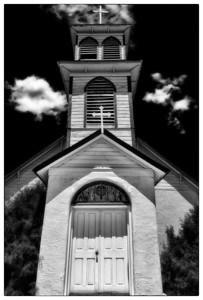 The church in Pagosa Junction ghost town