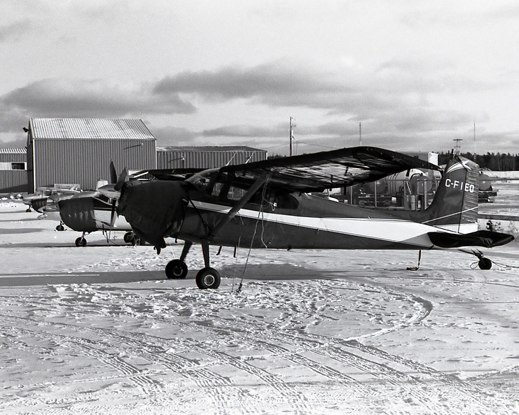 Several planes trying to keep warm at the local airport with engine blankets. <br /> <br /> Leica M5 with Kodak Tmax 400 developed with Kodak D76 for 8 minutes at 21C.