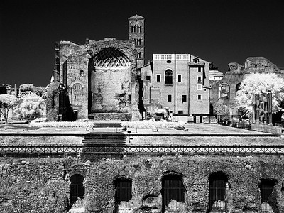 View from the Coliseum in infrared