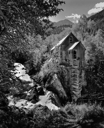 B & W Image of Crystal Mill Marble, Colorado