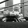 Pritzker Pavililon in Millennium Park in Chicago Illilnois 12 Black and White
